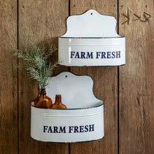 Enamel Farm Fresh Wall Pockets, Set of 2
