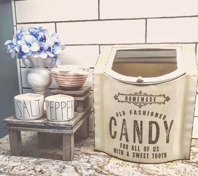 Vintage Style Antique White Candy Box