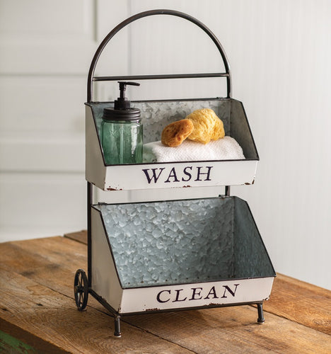 Wash and Clean Two Tier Cart
