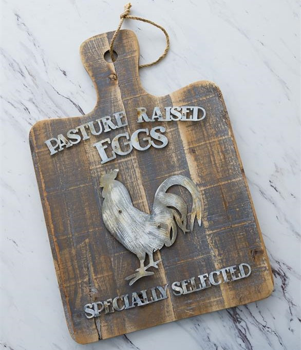 Pasture Raised Eggs Cutting Board