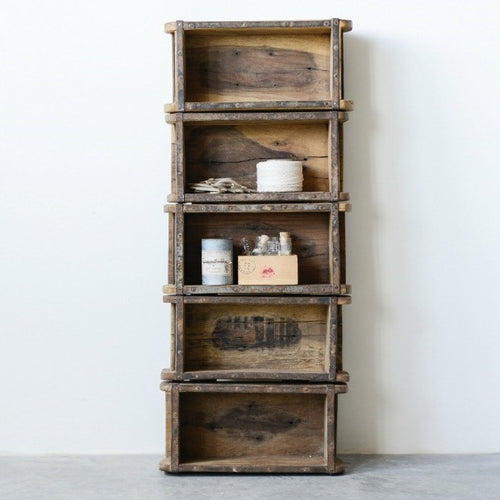 Vintage Inspired Brick Mold Bookshelf