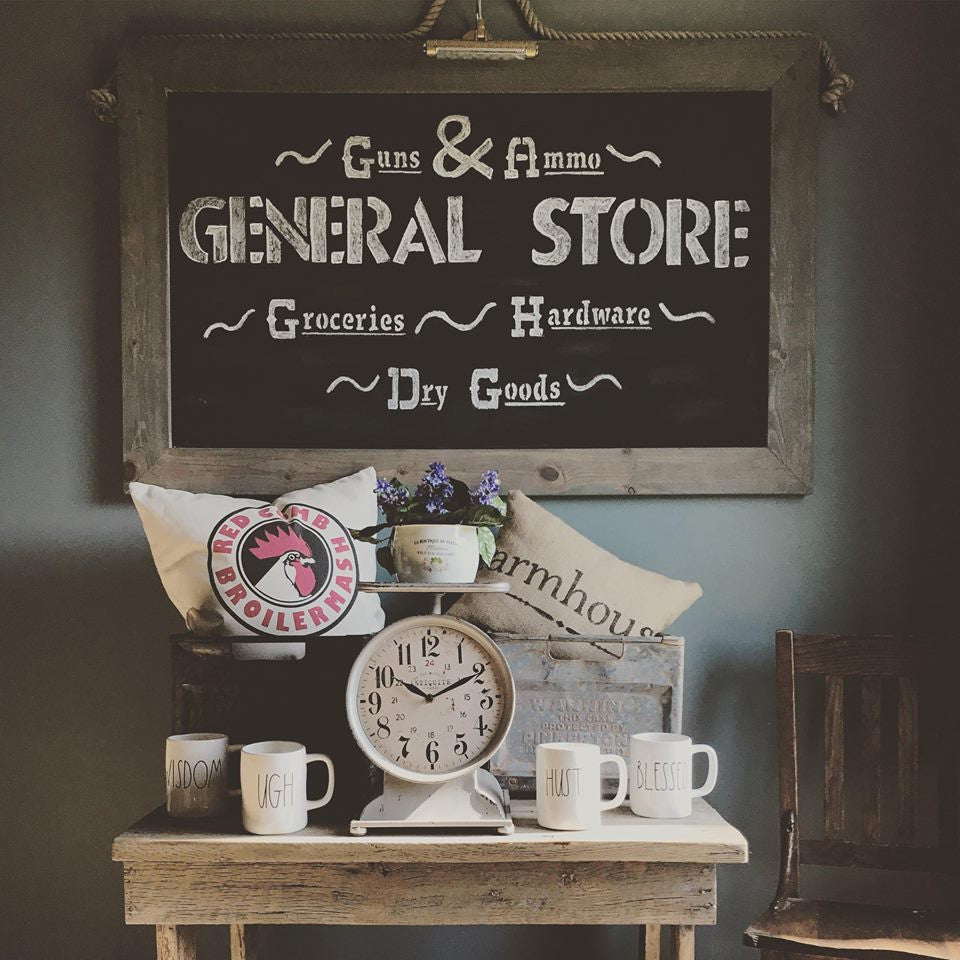Vintage Inspired Large Grocery Scale Clock Farmhouse