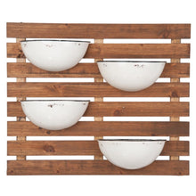 Enamel 4 Pot Wall Planter