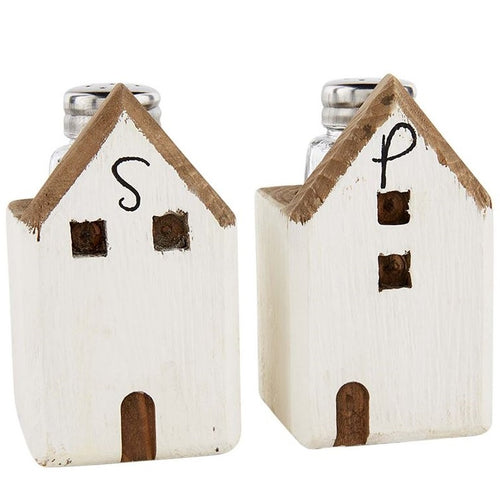 Wood House Salt and Pepper Set