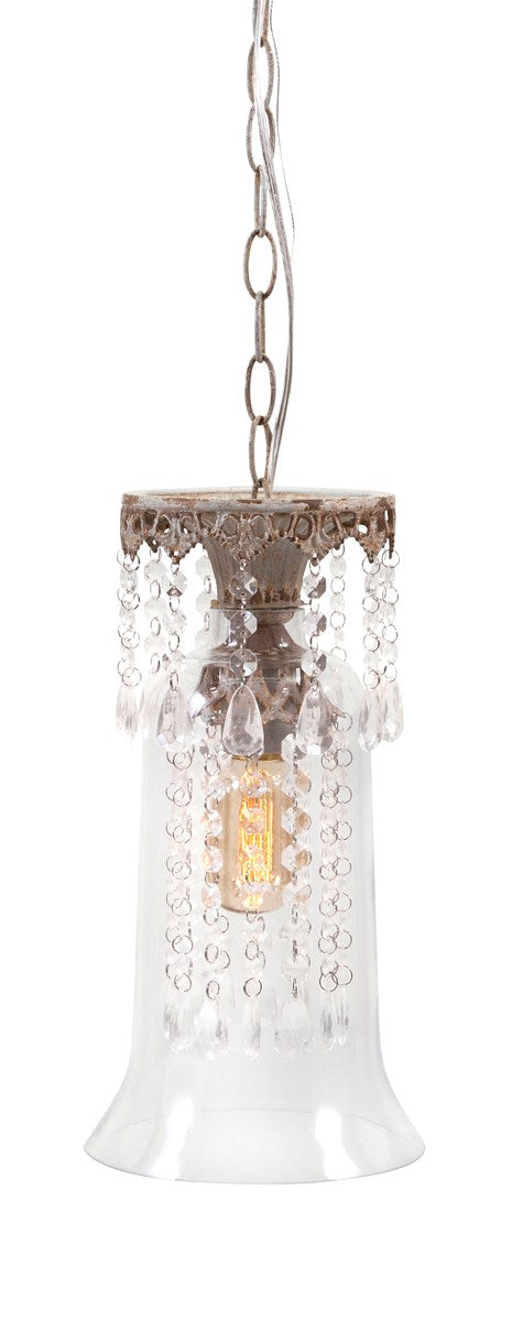 Whitney Vintage Inspired Glass Pendant Light