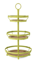 LARGE Green Three Tier Decorative Tray