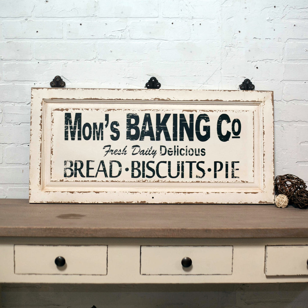 Quot Mom S Baking Co Quot Wood Sign Farmhouse Fresh Home