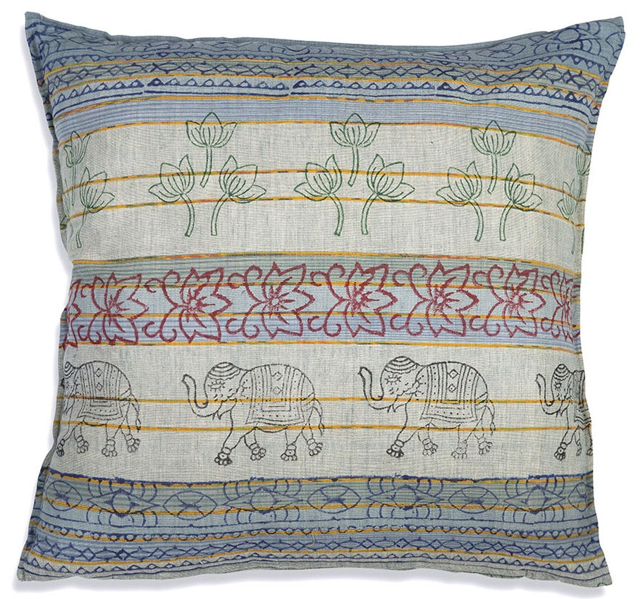 Boho Cotton Euro Pillows, Set of 2