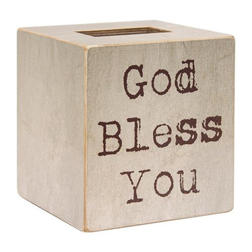 God Bless You Tissue Box Cover
