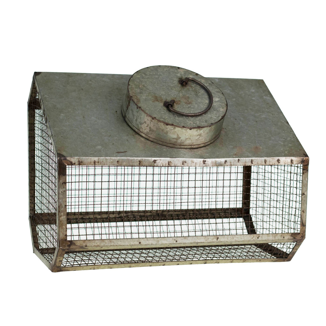 Large Vintage Inspired Bulb Bin with Chicken Wire – Farmhouse Fresh Home