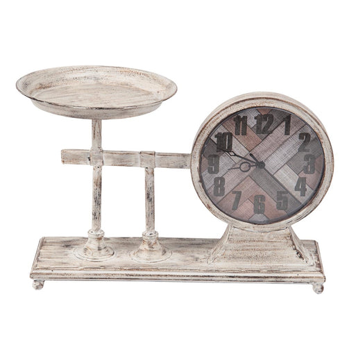 Metal Farmers Scale Clock