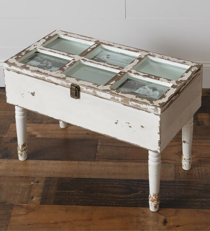 Shabby Chic Picture Panel Storage Table