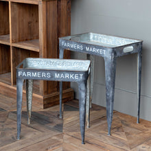 Farmers Market Tray Tables, Set of 2