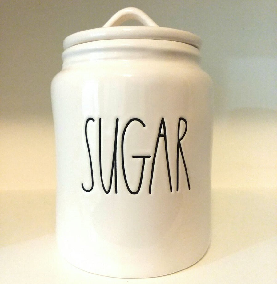 New Rae Dunn Large SUGAR Canister