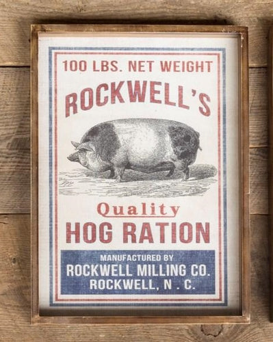 Shadowbox Hog Ration Feedsack Print