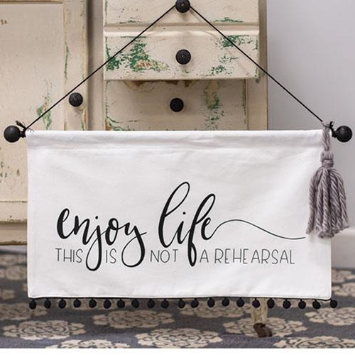 Enjoy Life Canvas Wall Hanging