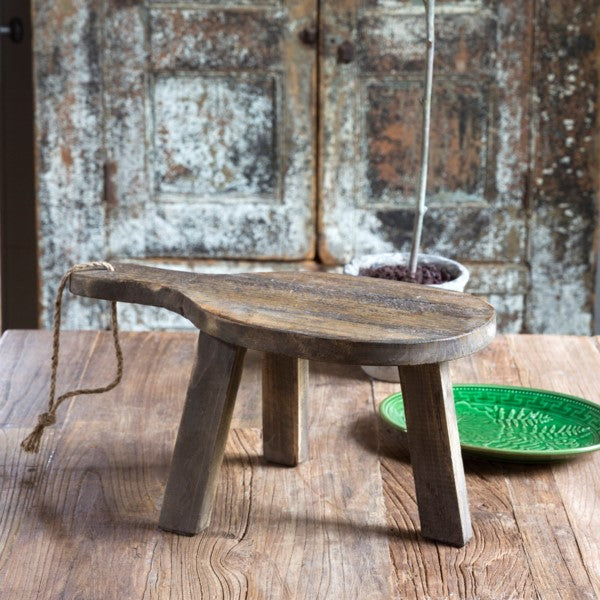 Rustic Wood Oblong Cheese Board Riser