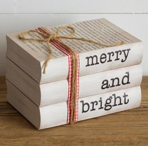 Merry and Bright Stamped Book Set