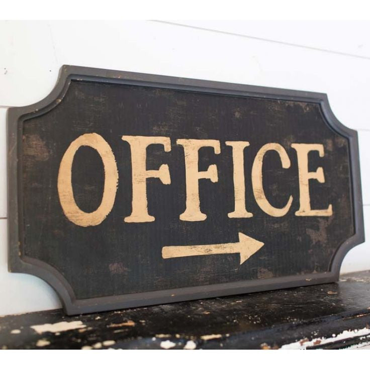 Exceptionnel Vintage Style Office Sign