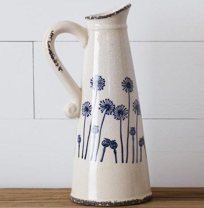 LARGE Ceramic Dandelion Pitcher