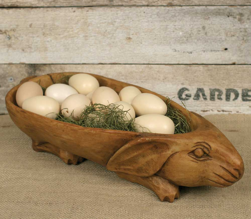 Antique Inspired Treen Rabbit Bowl