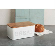 Circa Metal and Wood Bread Box