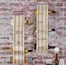 Woven Hanging Wine Racks, Set of 2