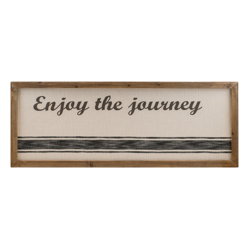 Wood and Canvas Enjoy The Journey Sign
