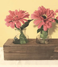 Rustic 5 Vase Wood Crate