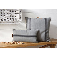 Gray & Black Grainsack Pillows, Set of 2
