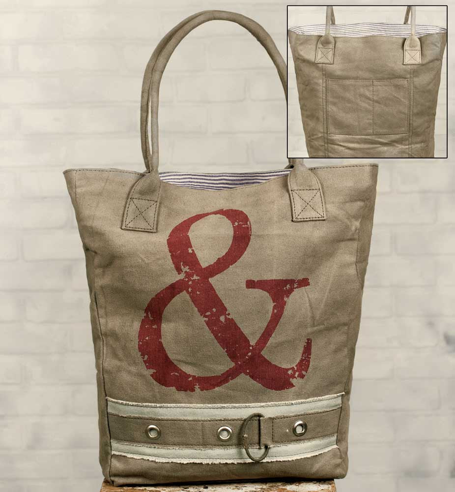 Vintage Inspired Ampersand Market Bag