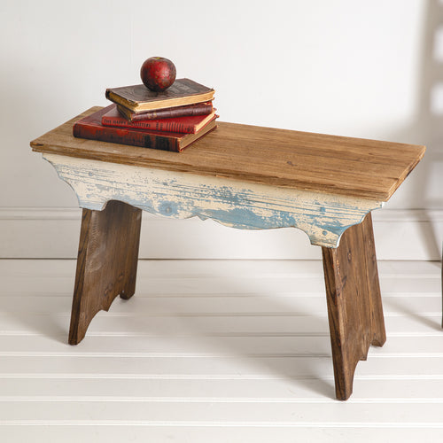 LARGE Wooden Scalloped Bench