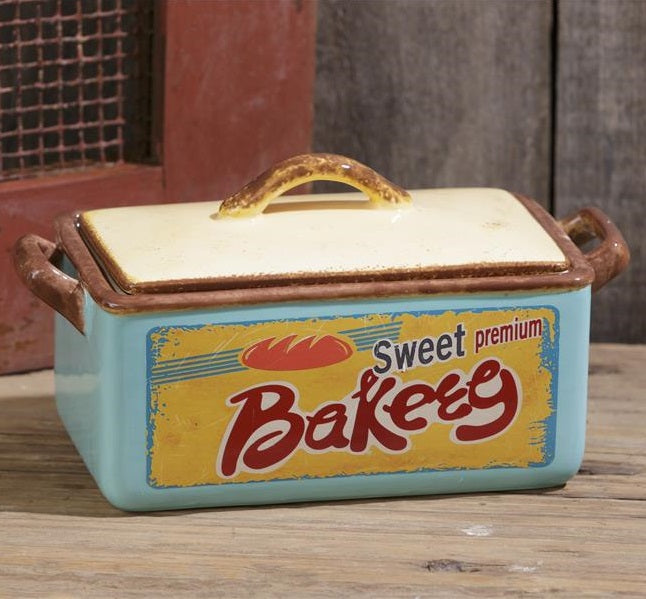 Vintage Inspired Retro Ceramic Bakery Container