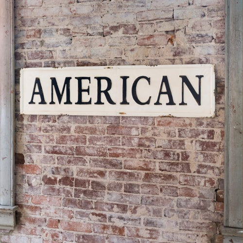 Vintage Embossed Metal & Wood Signs ~ Farmhouse Style Wall