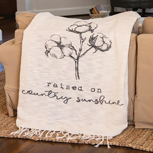 Raised on Country Sunshine Throw Blanket