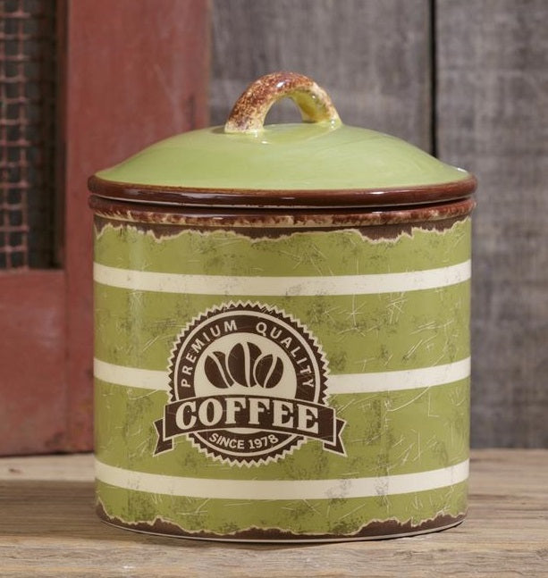 Vintage Inspired Retro Ceramic Coffee Canister
