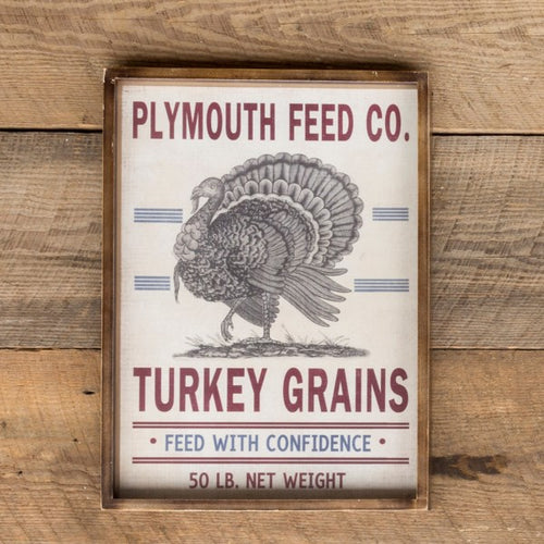 Shadowbox Turkey Grains Feedsack Print