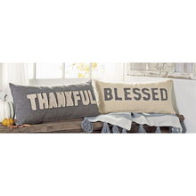 "Washed Canvas ""Blessed"" Pillow"