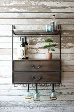 Industrial Style Metal Hanging Wall Bar