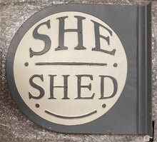 LARGE She Shed Double-Sided Wall Sign