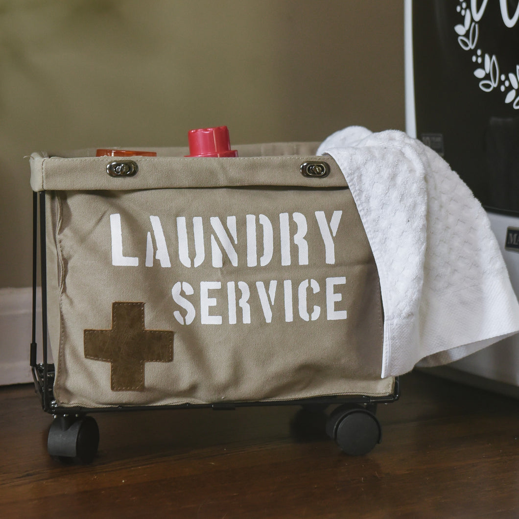 Small Laundry Service Rolling Laundry Cart