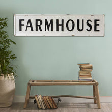 "Vintage Embossed Metal ""FARMHOUSE"" Sign"