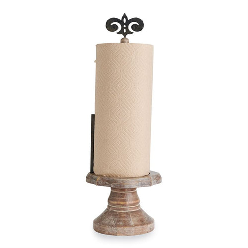 French Country Fleur De Lis Paper Towel Holder