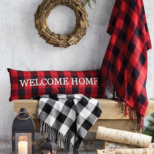 "Buffalo Check ""Welcome Home"" Pillow"