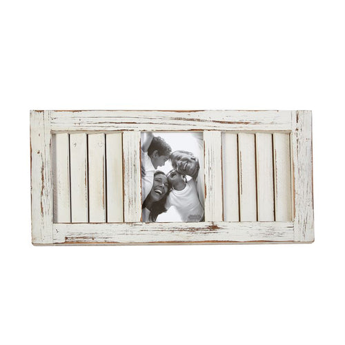 Large White Wash Shutter Frame