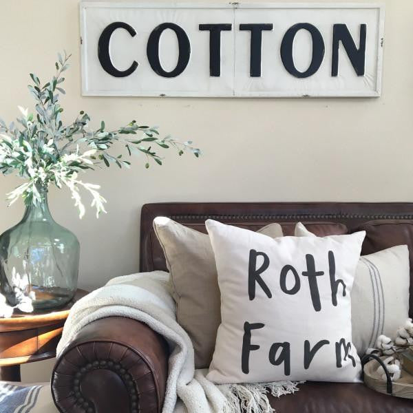 Vintage embossed metal cotton sign farmhouse fresh home for Vintage home interior products
