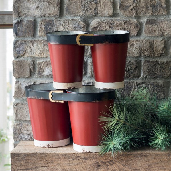 Santa Pants Buckets, Set of 2