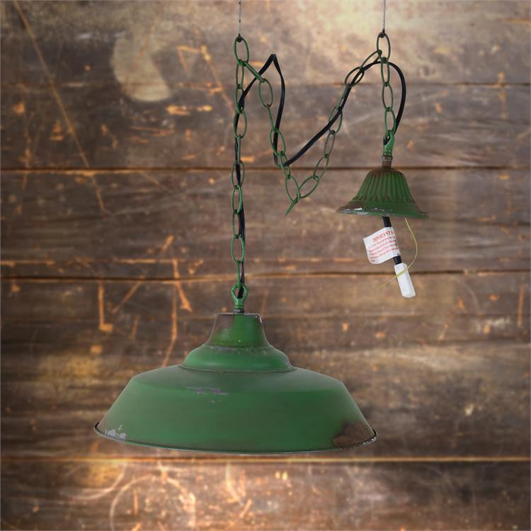 Vintage Warehouse Green Pendant Light