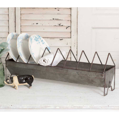 Trough Chicken Feeder Plate Rack