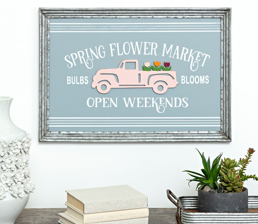 Spring Flower Market Wall Decor